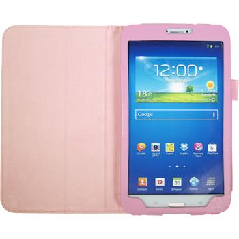 Artificial Leather Case for Samsung Galaxy Tab 3 8.0 Wallet pink