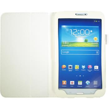 Artificial Leather Case for Samsung Galaxy Tab 3 8.0 Wallet white