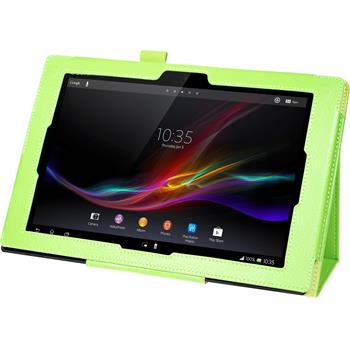 Artificial Leather Case for Sony Xperia Tablet Z Premium green