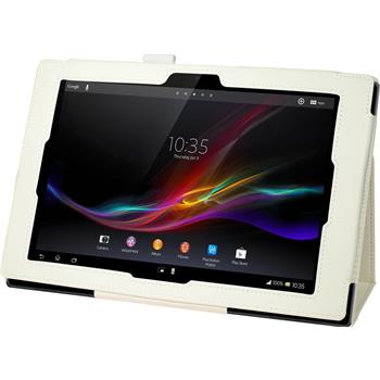Kunst-Lederhülle Xperia Tablet Z Premium weiß