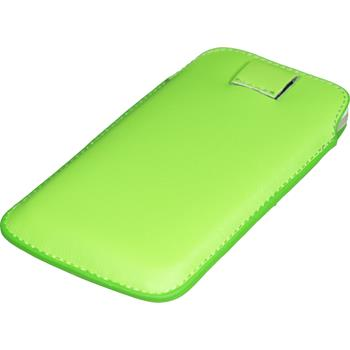 Artificial Leather Case for HTC Sensation XL Bag green