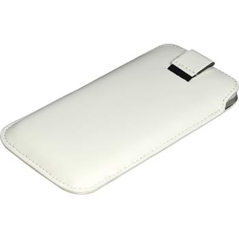 Artificial Leather Case for LG Optimus 4X HD P880 Bag white