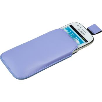 Artificial Leather Case for Samsung Galaxy S3 Mini Bag purple