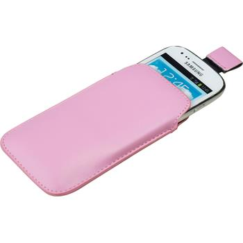 Artificial Leather Case for Samsung Galaxy S3 Mini Bag pink