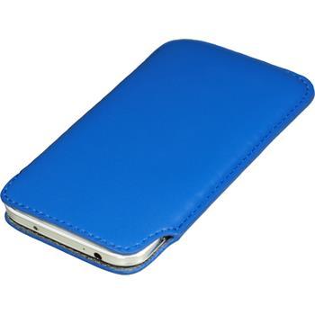 Kunst-Lederhülle Galaxy S4 Tasche blau