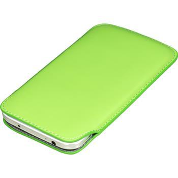 Kunst-Lederhülle Galaxy S4 Tasche grün