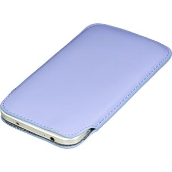 Artificial Leather Case for Samsung Galaxy S4 Bag purple
