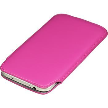 Kunst-Lederhülle Galaxy S4 Tasche pink