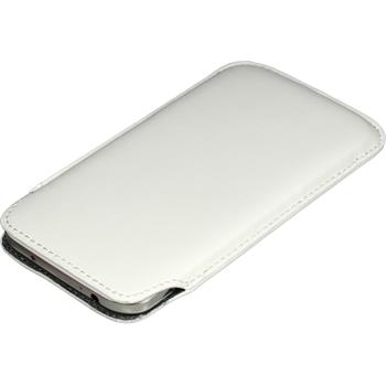 Artificial Leather Case for Samsung Galaxy S4 Bag white