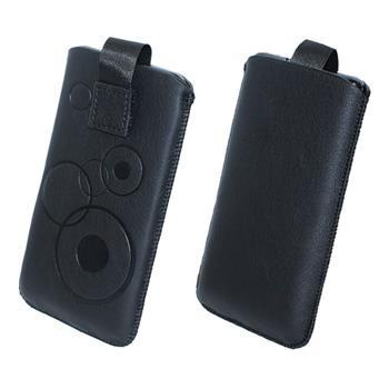 Kunst-Lederhülle Galaxy S4 Mini Tasche schwarz