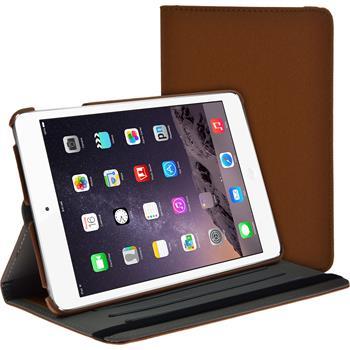 Kunst-Lederhülle iPad Mini 3 2 1 360° Stoffoptik braun