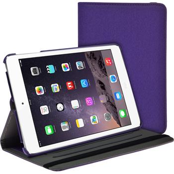 Kunst-Lederhülle iPad Mini 3 2 1 360° Stoffoptik lila