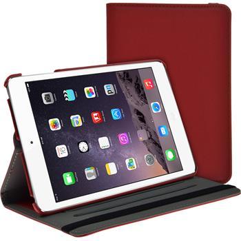 Kunst-Lederhülle iPad Mini 3 2 1 360° Stoffoptik rot
