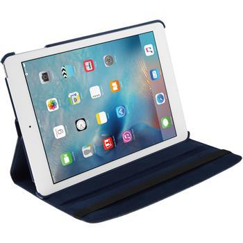 Kunst-Lederhülle iPad Mini 4 360° blau