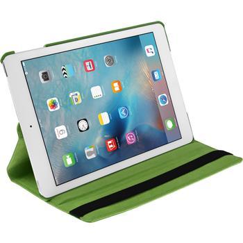 Kunst-Lederhülle iPad Mini 4 360° grün + 2 Schutzfolien