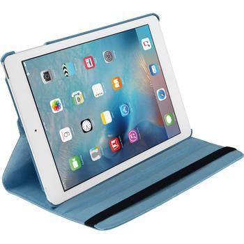 Kunst-Lederhülle iPad Mini 4 360° hellblau