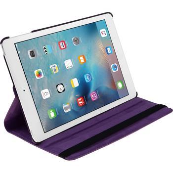 Kunst-Lederhülle iPad Mini 4 360° lila