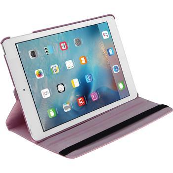 Kunst-Lederhülle iPad Mini 4 360° rosa