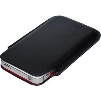 Kunst-Lederhülle iPhone 4S Tasche schwarz