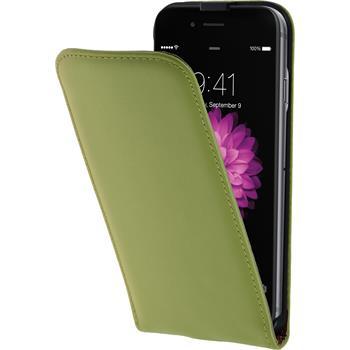 Kunst-Lederhülle für Apple iPhone 6s / 6 Flip-Case grün + 2 Schutzfolien