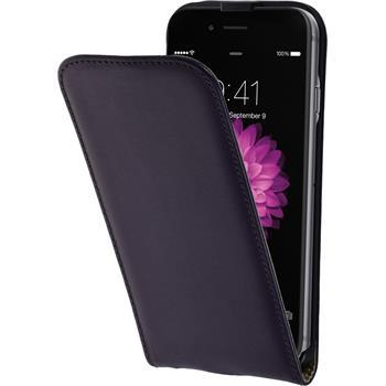 Kunst-Lederhülle iPhone 6s / 6 Flip-Case lila