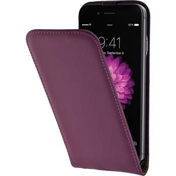 Kunst-Lederhülle iPhone 6s / 6 Flip-Case pink + 2 Schutzfolien