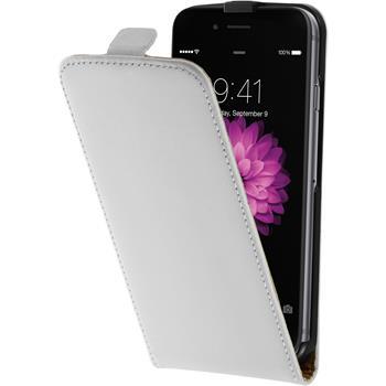 Kunst-Lederhülle für Apple iPhone 6s / 6 Flip-Case weiß + 2 Schutzfolien