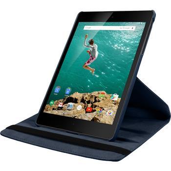 Artificial Leather Case for Google HTC Nexus 9 360° blue
