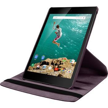 Kunst-Lederhülle HTC Nexus 9 360° lila