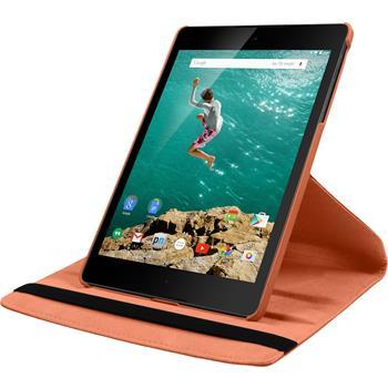 Kunst-Lederhülle HTC Nexus 9 360° orange