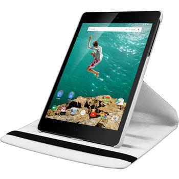 Kunst-Lederhülle HTC Nexus 9 360° weiß