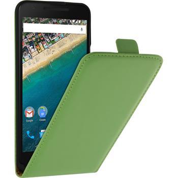 Kunst-Lederhülle Nexus 5X Flip-Case grün