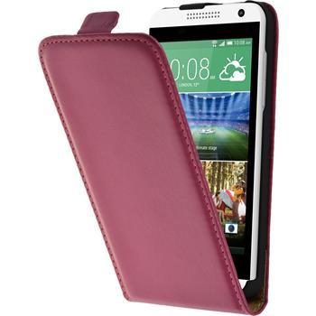 Kunst-Lederhülle Desire 610 Flip-Case pink