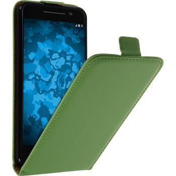 Kunst-Lederhülle One A9 Flip-Case grün