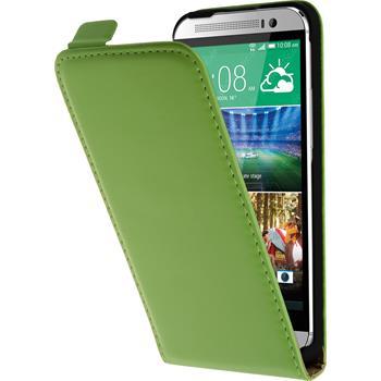 Kunst-Lederhülle One E8 Flip-Case grün