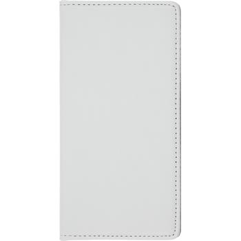 Kunst-Lederhülle P8 Book-Case weiß + 2 Schutzfolien