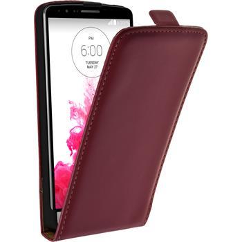 Kunst-Lederhülle für LG G3 Flip-Case pink + 2 Schutzfolien