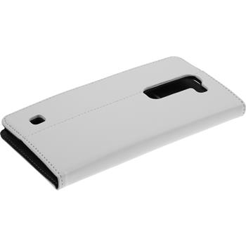 Kunst-Lederhülle G4c Book-Case weiß + 2 Schutzfolien