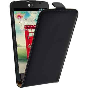 Kunst-Lederhülle L80 Dual Flip-Case schwarz