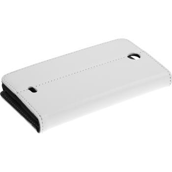 Kunst-Lederhülle Lumia 430 Dual Book-Case weiß