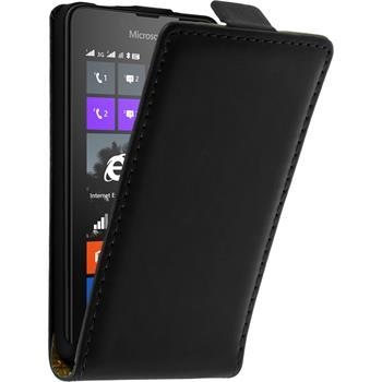 Kunst-Lederhülle Lumia 430 Dual Flip-Case schwarz