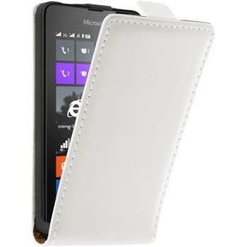 Kunst-Lederhülle Lumia 430 Dual Flip-Case weiß