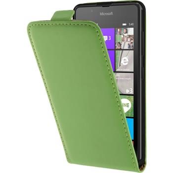 Kunst-Lederhülle Lumia 540 Dual Flip-Case grün