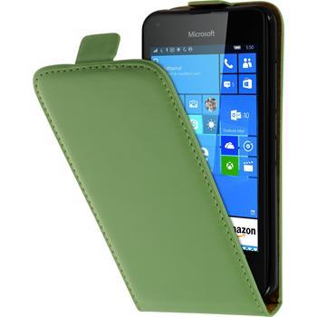 Kunst-Lederhülle Lumia 550 Flip-Case grün
