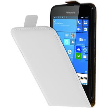 Kunst-Lederhülle Lumia 550 Flip-Case weiß