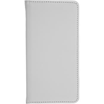 Kunst-Lederhülle Lumia 640 Book-Case weiß + 2 Schutzfolien