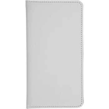 Kunst-Lederhülle Lumia 640 XL Book-Case weiß