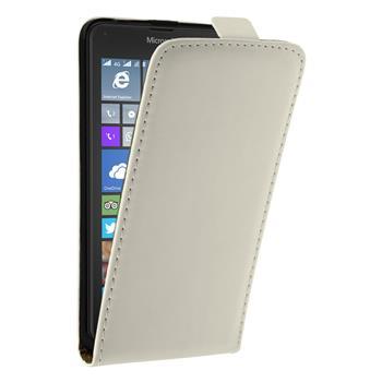 Kunst-Lederhülle Lumia 640 XL Flip-Case weiß