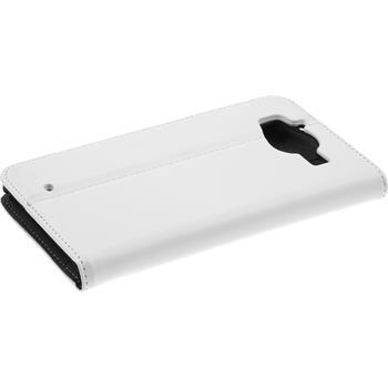 Kunst-Lederhülle Lumia 950 Book-Case weiß