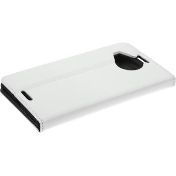 Kunst-Lederhülle Lumia 950 XL Book-Case weiß